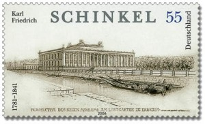Briefmarke Karl Friedrich Schinkel; Motiv: Altes Museum in Berlin