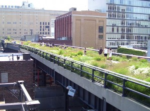 Die zur Parkanlage umgestaltete High Line an der West 20th Street